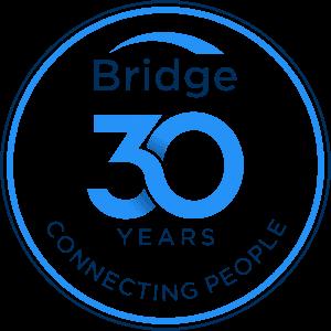 Bridge 30 years Badge blue